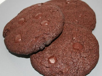 Giant Bakery Style Double Chocolate Chip Cookies *