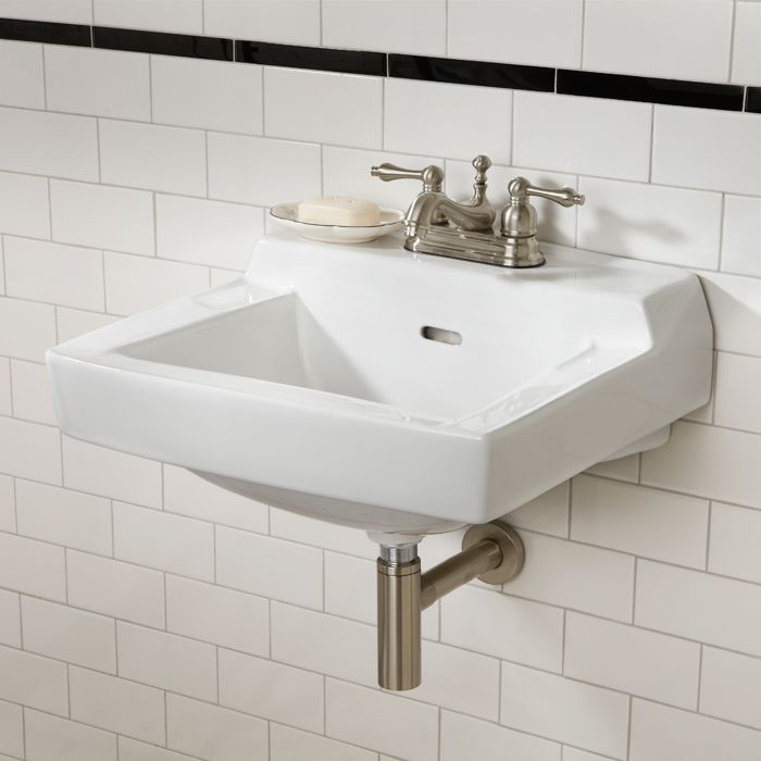 Prescott Wall Mount Sink Bathroom Pinterest