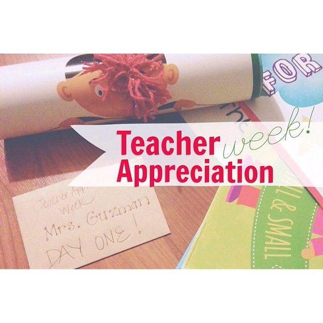 Teacher Appreciation Week 2014 | School | Pinterest