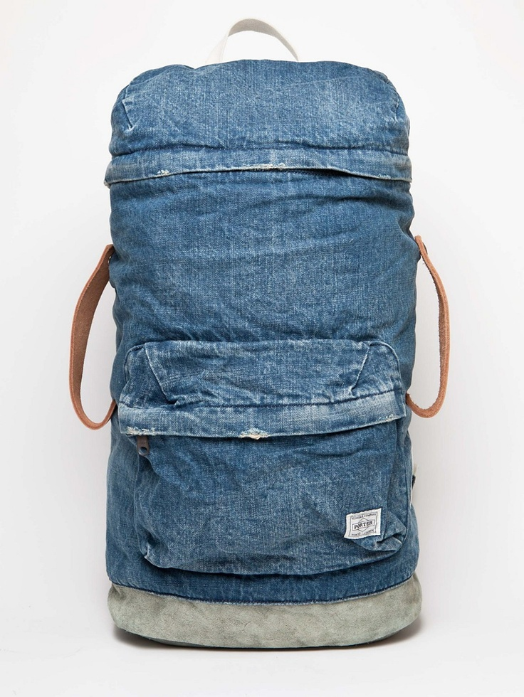 "White Mountaineering x porter denim backpack (More of an urban backpack for me. It has a nice design but the denim fabric is not fit for ""outdoors"" usage)"