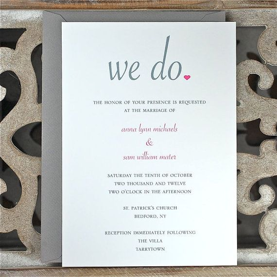 Short Wedding Invitation Wording with nice invitation example