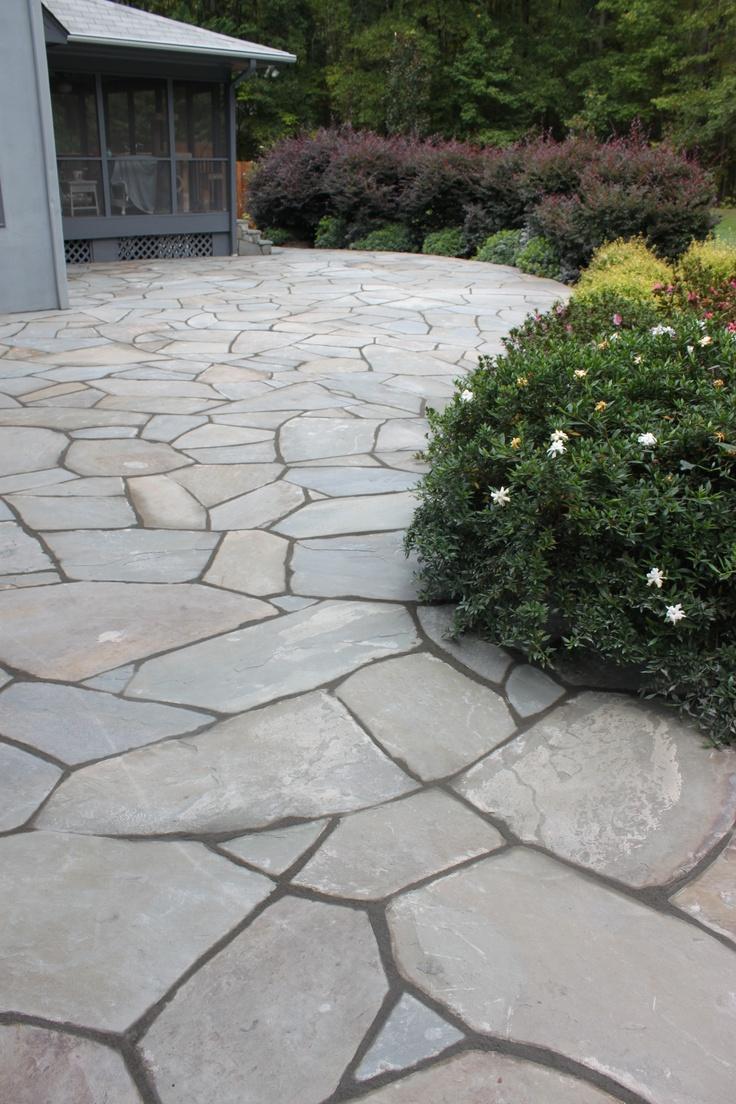 Bluestone patio landscape pinterest for Bluestone porch
