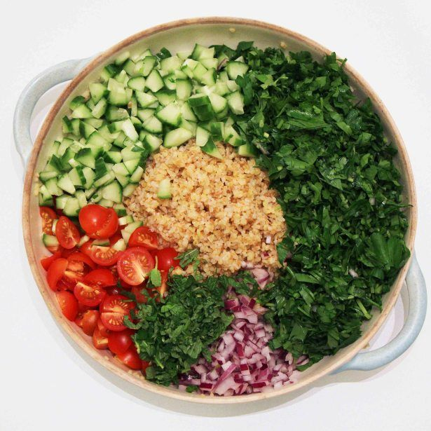 tabbouleh ingredients | Salads | Pinterest