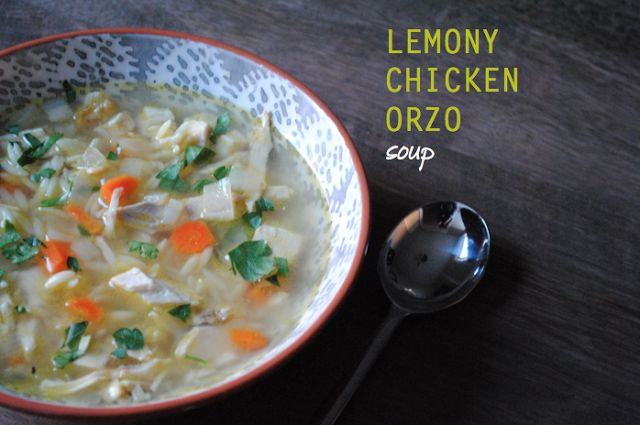 lemon chicken orzo soup - easy, healthy, tasty dinner. leftovers make ...