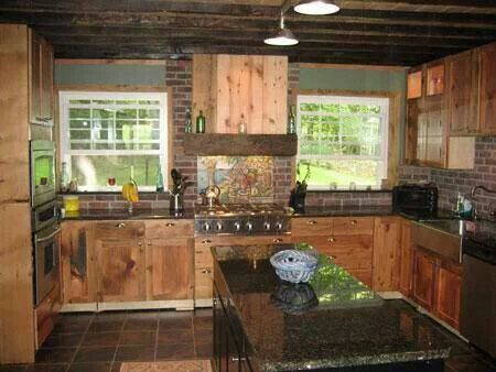 Beautiful Rustic Kitchen Wood Cabin For Our Home Pinterest