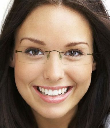 Women s Eyeglass Frames For Small Faces : almost invisible My Style Pinterest