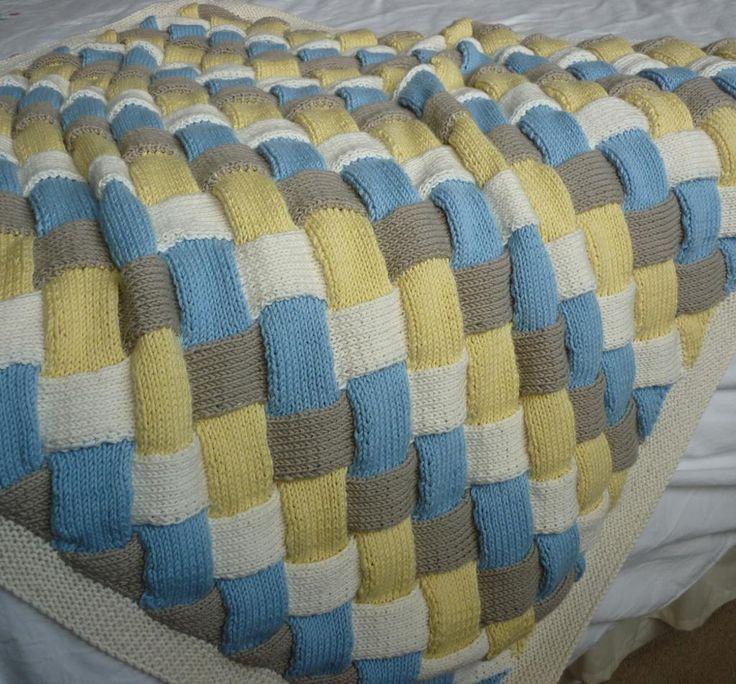 Entrelac Baby Blanket Pattern Knit/Crochet Projects Pinterest