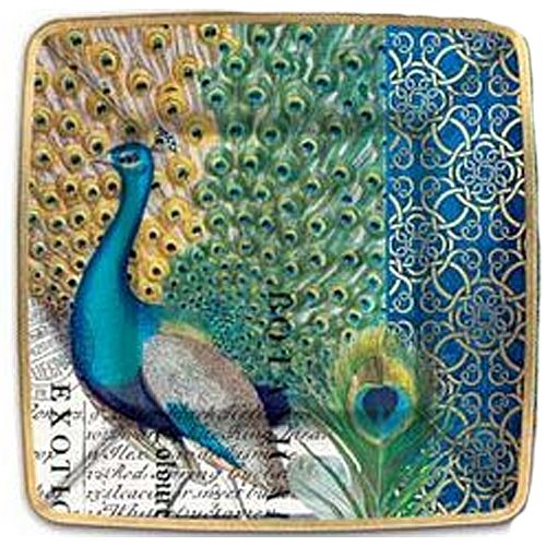 peacock paper plates