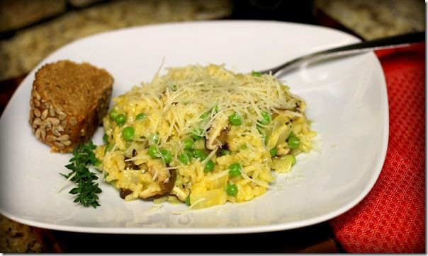Shiitake Mushroom and Sweet Pea Risotto from Making Thyme for Health