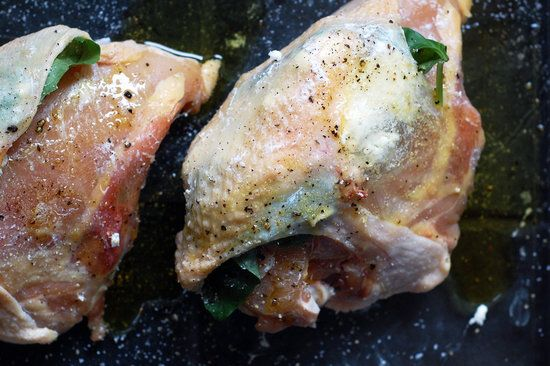 Chicken With Goat Cheese and Basil (I used mozzarella instead of goat ...