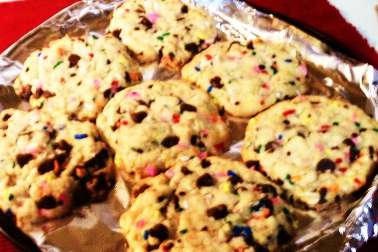 Cake Batter oatmeal cookies | Sweet Tooth | Pinterest