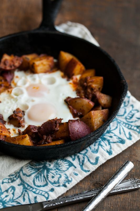 Potato Masala and Egg Skillet (1 tbsp olive oil or coconut oil, 1 ...