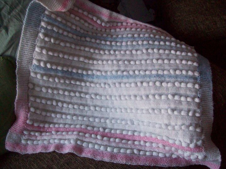 Knitted bobble baby blanket Baby gifts Pinterest