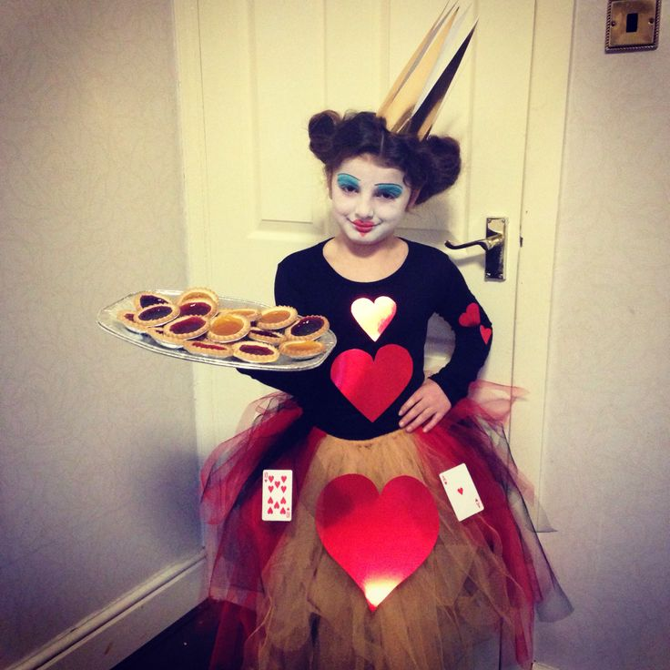 World book day queen of hearts costume made by me