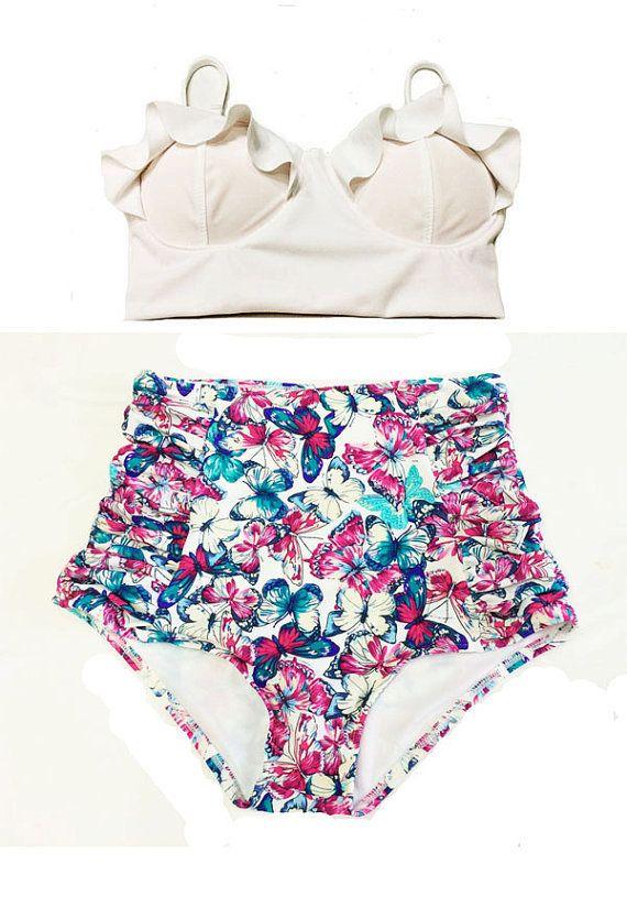 floral high waisted bikini - photo #2