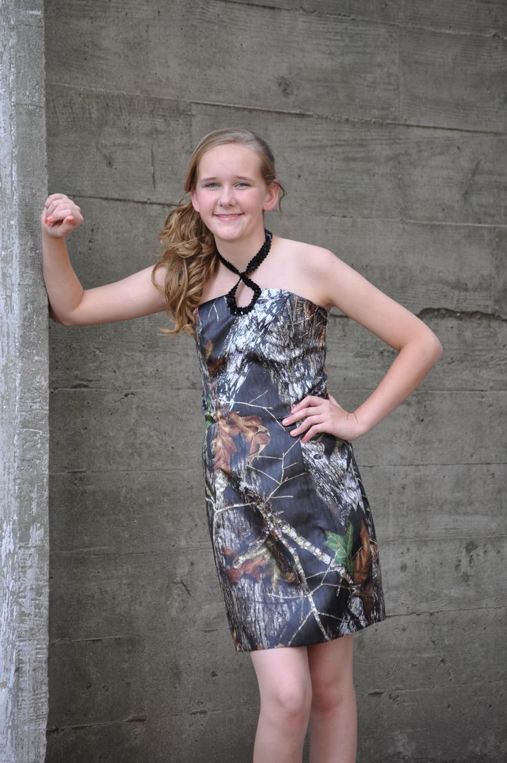 Camo Dress - 8th Grade Graduation