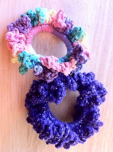 Crochet Hair Scrunchies .. October 2011 Crocheting Pinterest