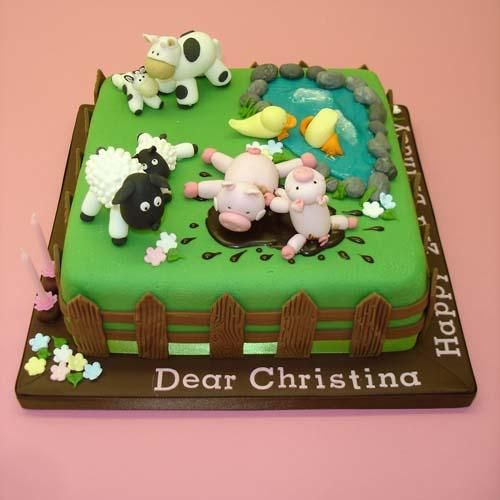 Farm Cake Decorations Uk : Farm Yard Fun Cake Cakes - Kids Pinterest