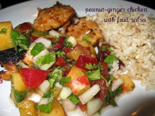 Peanut Ginger Chicken with Fruit Salsa | Tried It...and LOVED it! | P ...