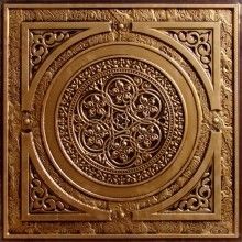 225 Decorative Ceiling Tile Drop In 24x24 | Antique Gold | Easy Install $9.99