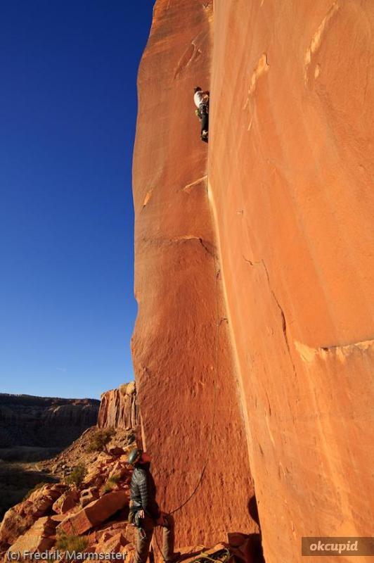 climbing indian creek, utah