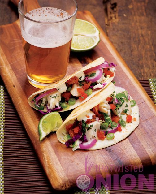 Grilled Cilantro-Lime Fish Taco Recipe | Seafood Recipes | Pinterest