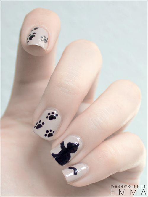 Adorable kitten nail idea #cat http://pinterest.com/ahaishopping/