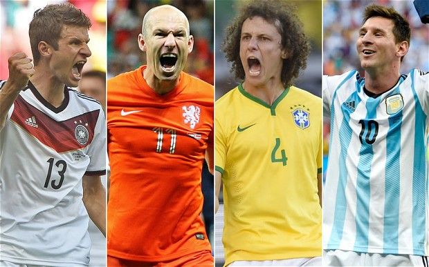 The four semi-finalists! Who do you think is going to win the #WorldCup - Germany, Holland, Brazil or Argentina? #LastWeek #Exciting