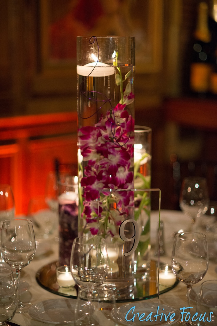 Floating candle Centerpiece | Julienne's Wedding | Pinterest