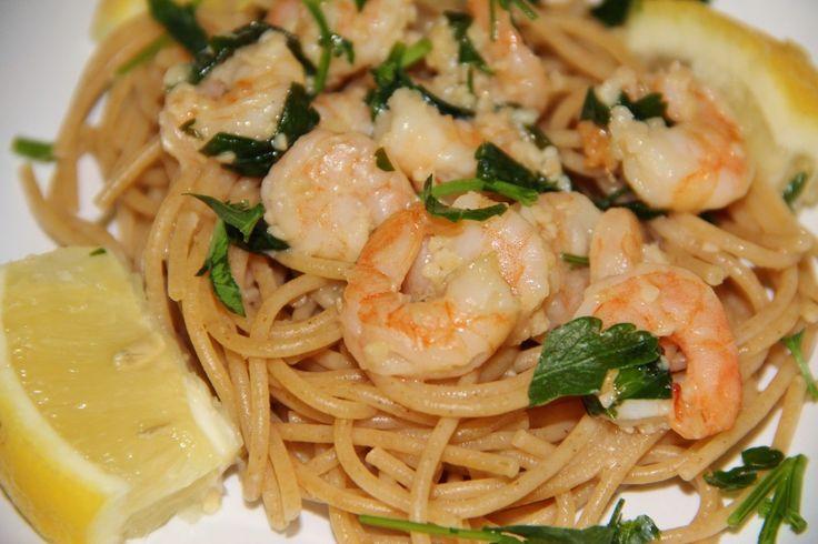Shrimp Scampi with Whole Wheat Spaghetti   Recipe
