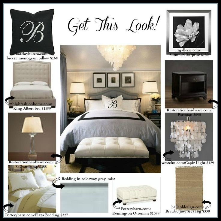 Pin by ruth wright on master bedroom pinterest Black white and grey bedroom designs