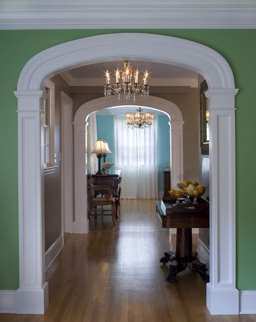 interior arch traditional hall mi casa pinterest