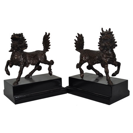 Vintage chinese style dragon bookends book ends pinterest - Dragon bookend ...