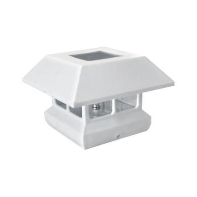 white plastic square solar panel post cap 2211 f11w at the home depot