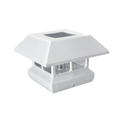 white plastic square solar panel post cap 2211 f11w at the home depot