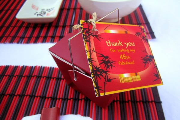 Party favor lunar harvest yum cha an oriental theme for Asian party decoration