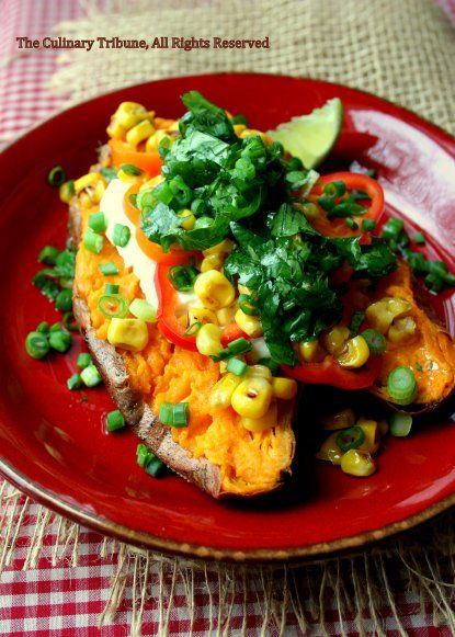 More like this: baked sweet potatoes , vinaigrette and limes .