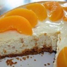 Peach Cheesecake with Gingersnap Crust | Fooooood | Pinterest