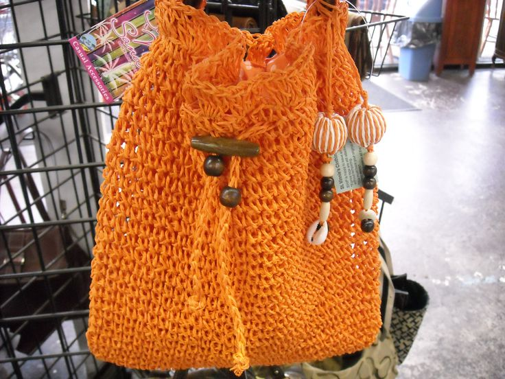 Orange purse just in time for fall