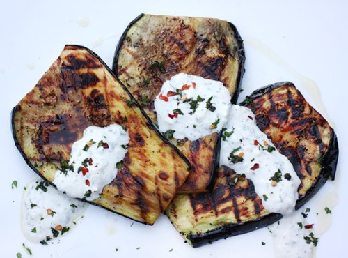Grilled Eggplant with Creamed Feta | Clean Eating | Pinterest