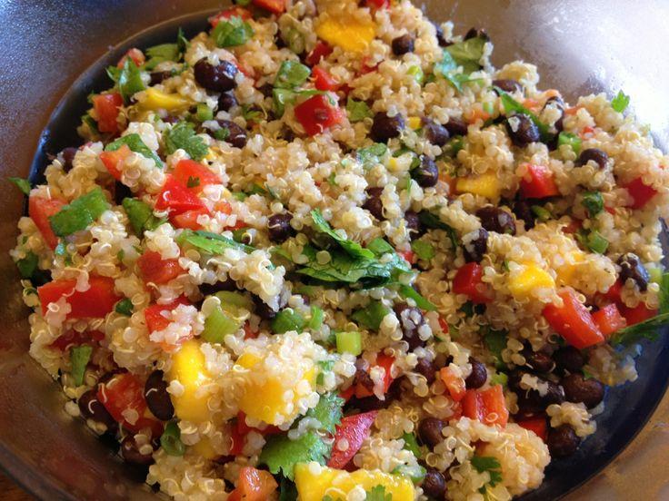 Mango and Black Bean Quinoa Salad | vegetarian meals | Pinterest