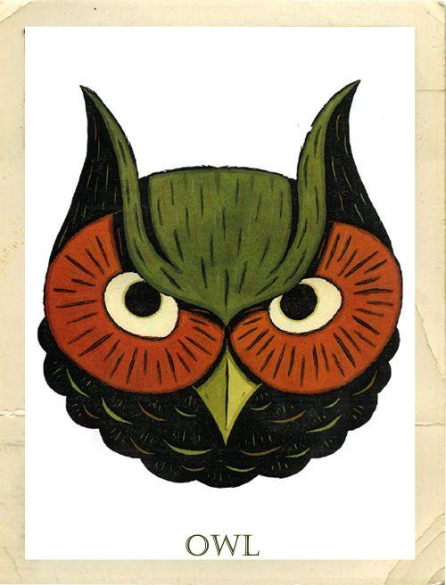 Owl template printable martha stewart - photo#3