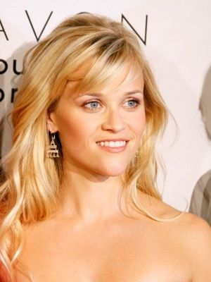 side swept bangs heart shaped face. Reese Witherspoon | Hair ...