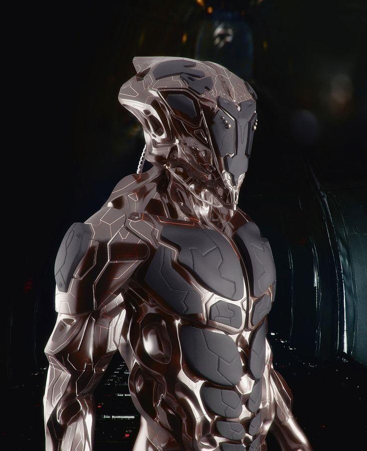 armor, future, futuristic, android, cyberpunk, military ...