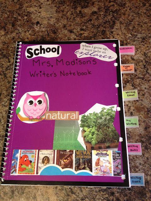 writer's notebook organization