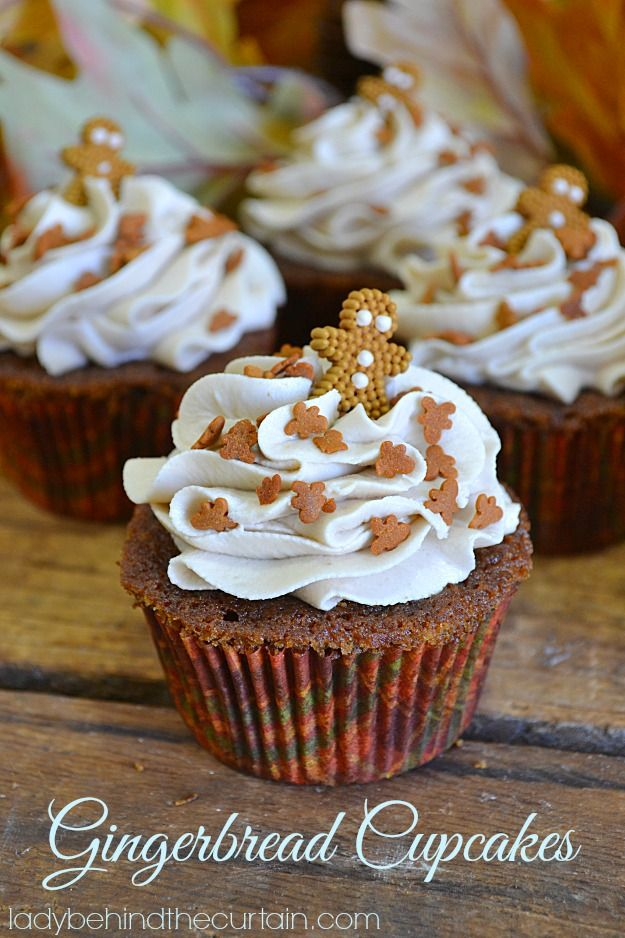 Gingerbread Cupcakes from Lady Behind the Curtain