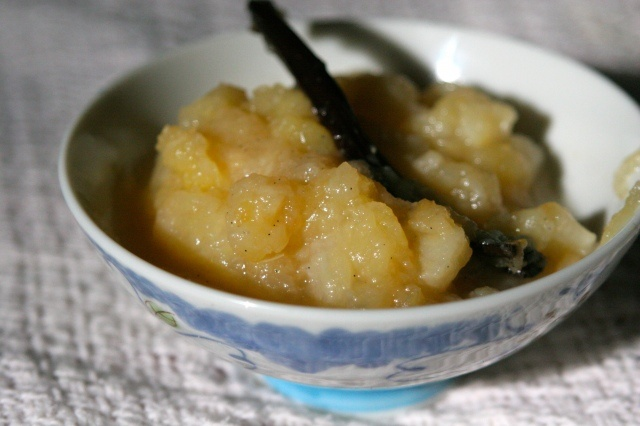 No sugar added vanilla pear-apple compote! Great by itself or try on ...