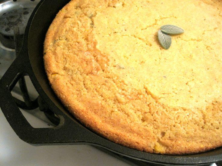 honey & sage skillet cornbread | Bread | Pinterest