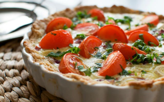 Tomato and Basil Quiche Recipe | Yum-O | Pinterest
