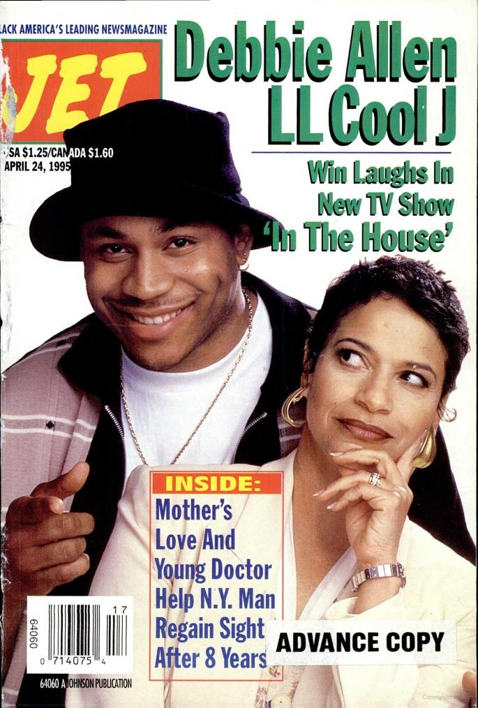Jet magazine cover with LL cool J for NBC's In The House ...